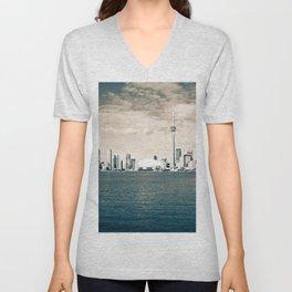 Toronto Skyline Unisex V-Neck