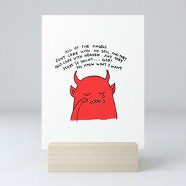 Sad Crying Devil Mini Art Print