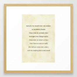Seek for the Sword that Was Broken Framed Art Print
