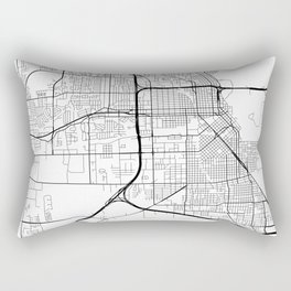 Beaumont Map, USA - Black and White Rectangular Pillow