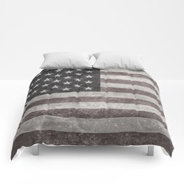 American flag, Retro desaturated look Comforters