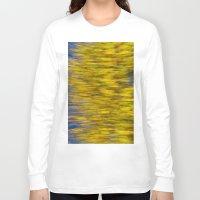 monet Long Sleeve T-shirts featuring Autumn on the Monet by David Pyatt