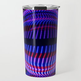 Red and Blue in the glass ball Travel Mug