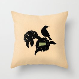Connecticut - State Papercut Print Throw Pillow