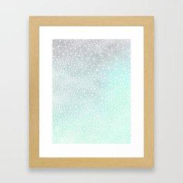 Organic Celestial Geometry on concrete and mint Framed Art Print
