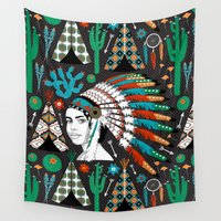southwest Wall Tapestries featuring Southwest by Vannina