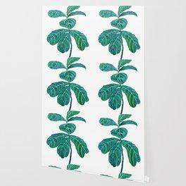 fiddle leaf fig watercolor Wallpaper