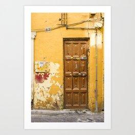 Yellow Door #47 Malaga Art Print