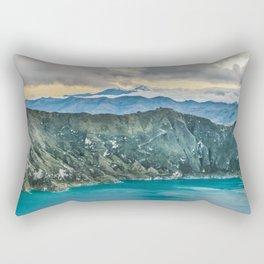 Quilotoa Lake, Latacunga Ecuador Rectangular Pillow