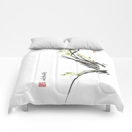 Green Wild Orchid Two Comforters