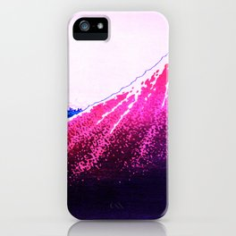 shower below a summit remix in blue and red  iPhone Case