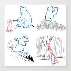 DA BEARS - A GOOD DAY Canvas Print