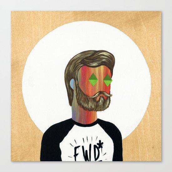6x6 Man Canvas Print