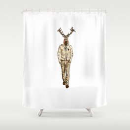 Stag with Swag Shower Curtain