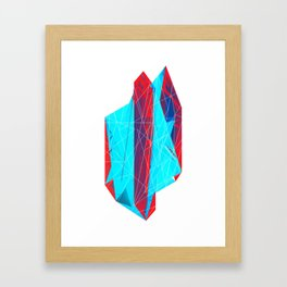 Geminate - Berry Framed Art Print