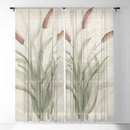 cattails 2 Sheer Curtain
