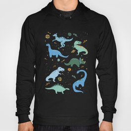 Dinosaurs in Space in Blue Hoody
