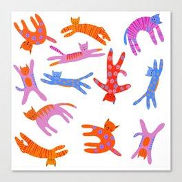 Cartwheel kitties Canvas Print