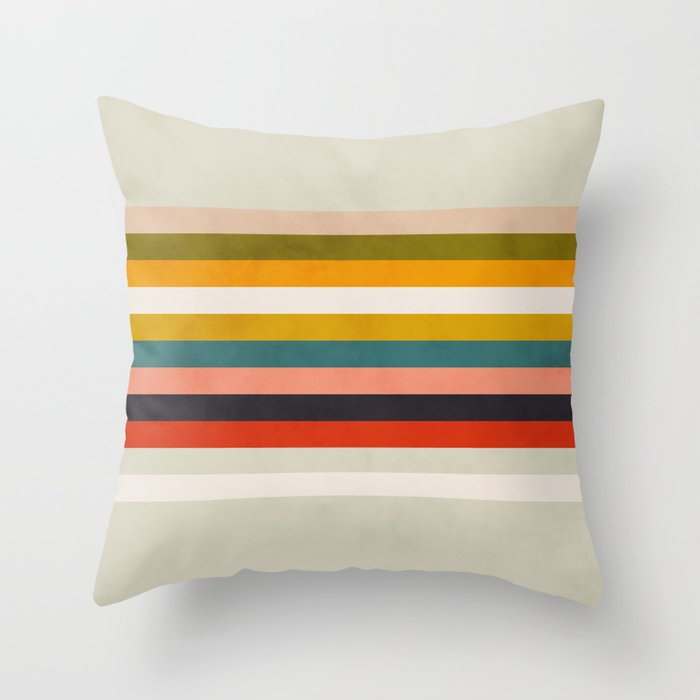 modern abstract stripe geometric Throw Pillow