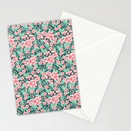 Cherry Blossom spring summer boho floral flower gardening nature botanical nature flowers florals Stationery Cards