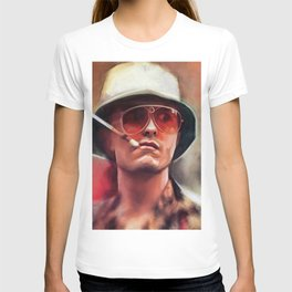Hunter S. Thompson Smokes A Cigarette - Fear And Loathing In Las Vegas T-shirt
