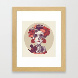 La musa Framed Art Print