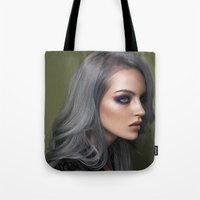 silver Tote Bags featuring Silver by Brandon Lundby