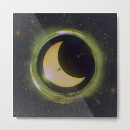 Space Eclipse Metal Print
