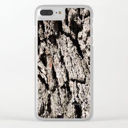 TEXTURES: Englemann Oak Bark Clear iPhone Case
