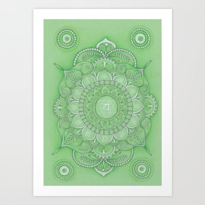 mandala Chakra Anahata Art Print