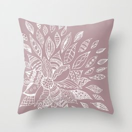 Scattered Petals on Vintage Backdrop Throw Pillow