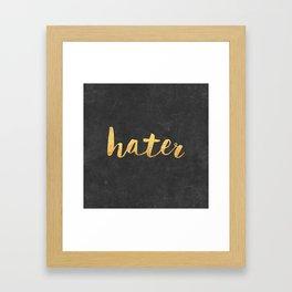 Hater Framed Art Print