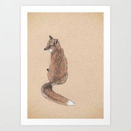 Fox folk Art Print