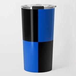 Big mosaic blue black Travel Mug