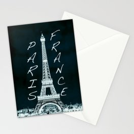 La Tour Eiffel - The Eiffel tower inverse with text Stationery Cards