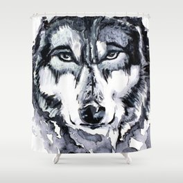 Abstract Wolf - Zoomed Shower Curtain