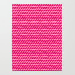 Pink Cube Tiles Poster