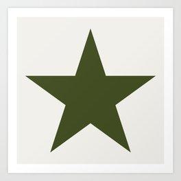 Vintage U.S. Military Star Art Print