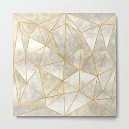 Geometric Mother of Pearl Metal Print