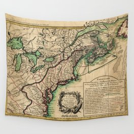 Map of the East Coast of America (1756) Wall Tapestry