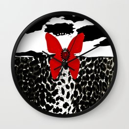 Animal Print Cheetah Zebra Black and White Wall Clock