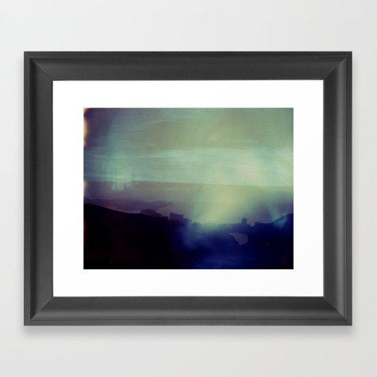 Victoria Peak Polaroid Framed Art Print