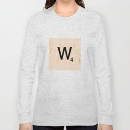 Scrabble Letter W - Scrabble Art and Apparel Long Sleeve T-shirt