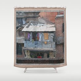 HUMBLE ABODE Shower Curtain