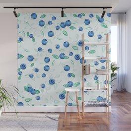 Botanical Blueberries Wall Mural