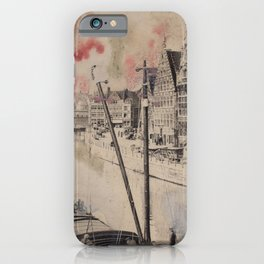 Ghent Painted Postcard iPhone Case