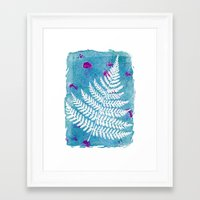 fern Framed Art Prints featuring Fern  by messy bed studio
