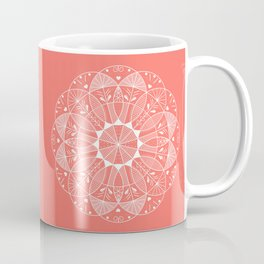 Living Coral Mandala-Pantone Color of the Year 2019 Coffee Mug
