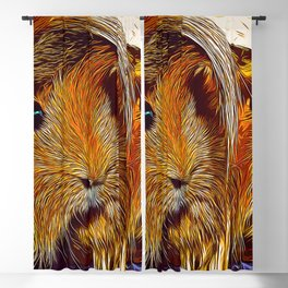 guinea pig couple vector art Blackout Curtain