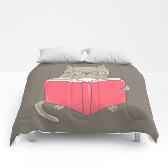 Cat booklover Comforters